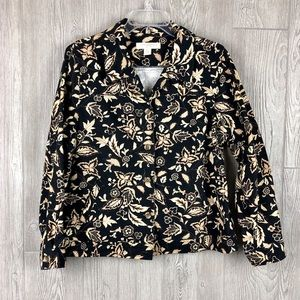 Black and Tan Floral Jacket from Appleseed's
